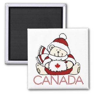 Oso de Canadá Imán Cuadrado