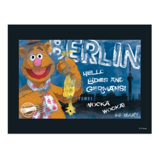 Oso de Fozzie - poster de Berlín Alemania Postales