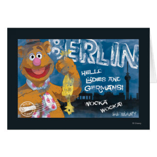 Oso de Fozzie - poster de Berlín, Alemania Tarjeta De Felicitación