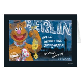 Oso de Fozzie - poster de Berlín Alemania Tarjeton