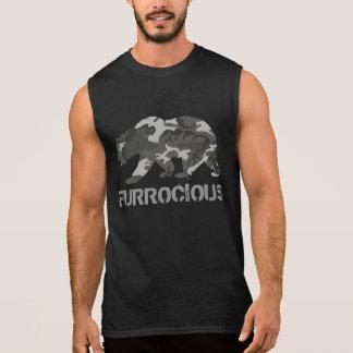 Oso de Furrocious Camo Camiseta Sin Mangas