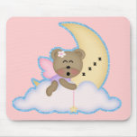 oso de hadas lindo napping en la luna alfombrillas de ratones