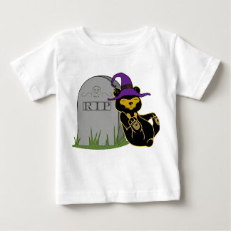 Oso de Halloween Sun con la piedra grave Camisas