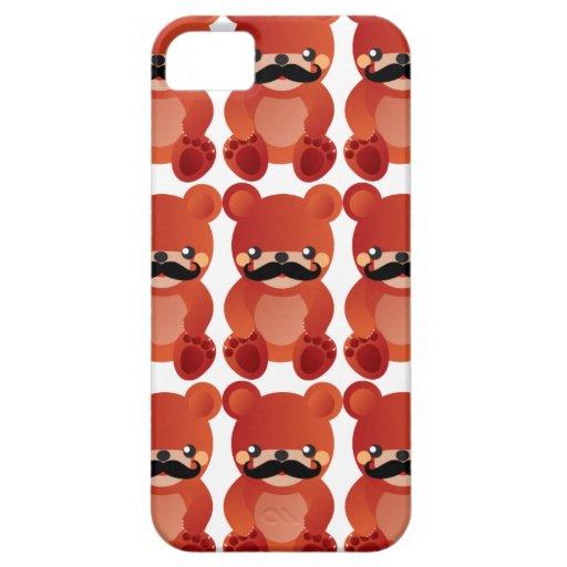 Oso de Kawaii con el caso del iPhone del humor del iPhone 5 Carcasas