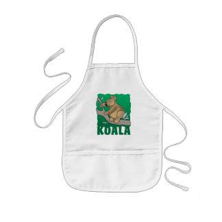 Oso de koala amistoso del niño delantal infantil