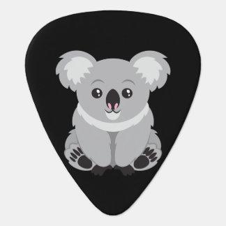 Oso de koala animado lindo púa de guitarra