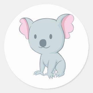 Oso de koala australiano del bebé pegatinas redondas