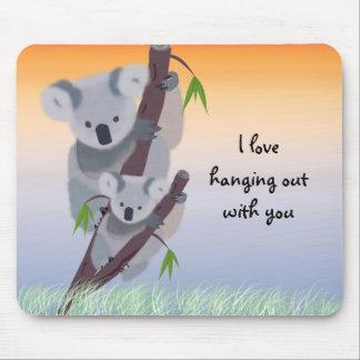 Oso de koala australiano lindo Mousepad Alfombrilla De Raton