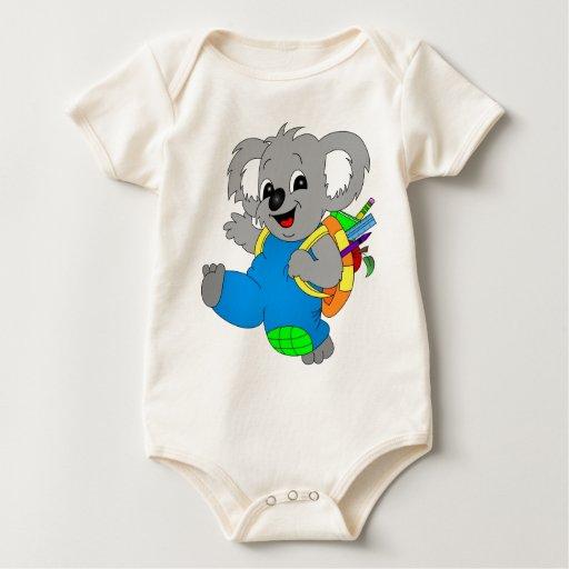 Oso de koala con la mochila body para bebé