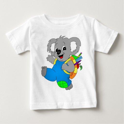 Oso de koala con la mochila camisetas