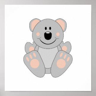 Oso de koala de Cutelyn Poster