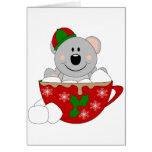 Oso de koala de la taza del navidad de Cutelyn Felicitación