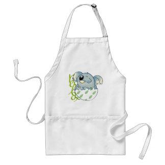 Oso de koala de relajación delantal