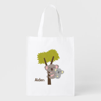 Oso de koala del bebé y mamá lindos para los niños bolsas para la compra