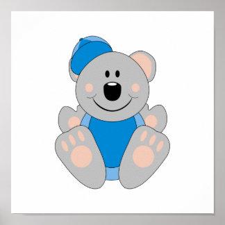 Oso de koala del béisbol del bebé de Cutelyn Poster