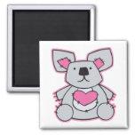 oso de koala del corazón del amor imán