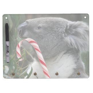 Oso de koala del navidad de Australia Pizarra Blanca
