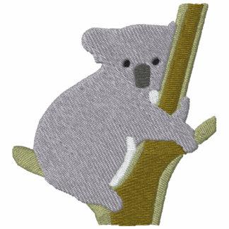 Oso de koala en un modelo del bordado del ~ del ár camiseta polo