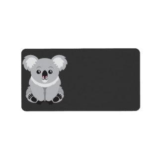 Oso de koala etiquetas de dirección