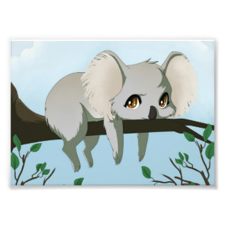 Oso de koala gruñón impresión fotográfica