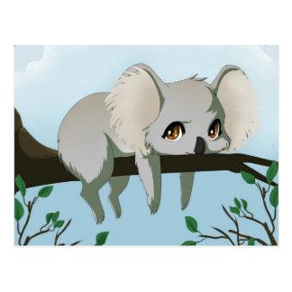 Oso de koala gruñón postales