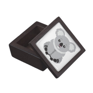 Oso de koala lindo cajas de recuerdo de calidad