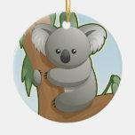 Oso de koala lindo ornamentos de reyes