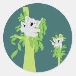 Oso de koala pegatinas redondas