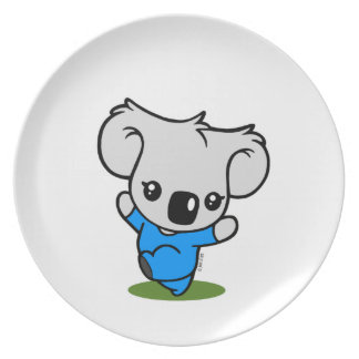 Oso de koala plato para fiesta