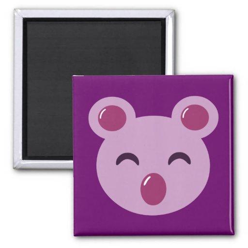 Oso de koala púrpura lindo imán de frigorifico