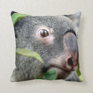 oso de koala que mira el ojo ascendente c.jpg del cojín decorativo