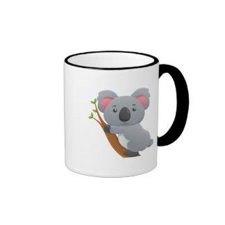 Oso de koala taza de dos colores