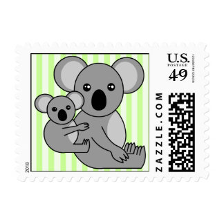 Oso de koala y sello lindos del bebé