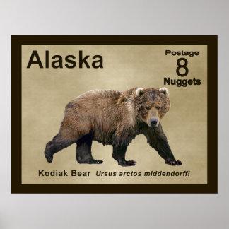 Oso de Kodiak Poster