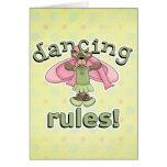 Oso de la bailarina de las reglas del baile felicitacion