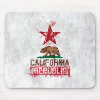 Oso de la bandera de California en estilo Mousepad