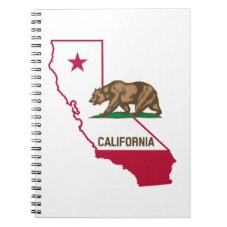 Oso de la bandera de California Libro De Apuntes