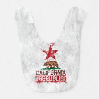 Oso de la bandera de la república de California en Baberos Para Bebé