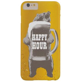 Oso de la cerveza de la hora feliz funda para iPhone 6 plus barely there