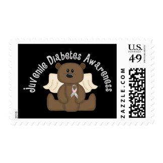 Oso de la conciencia de la diabetes juvenil sellos postales