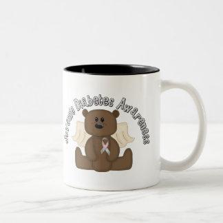 Oso de la conciencia de la diabetes juvenil tazas de café