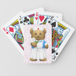 Oso de la enfermera - oso de peluche barajas de cartas
