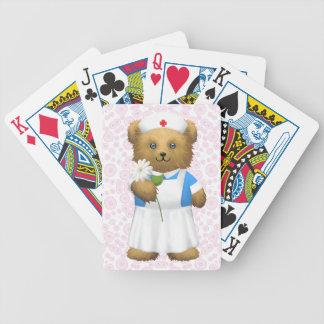 Oso de la enfermera - oso de peluche cartas de juego