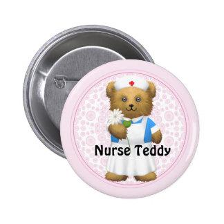 Oso de la enfermera - oso de peluche pin redondo de 2 pulgadas