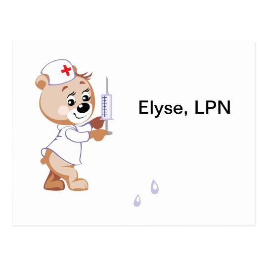 Oso de la enfermera postal