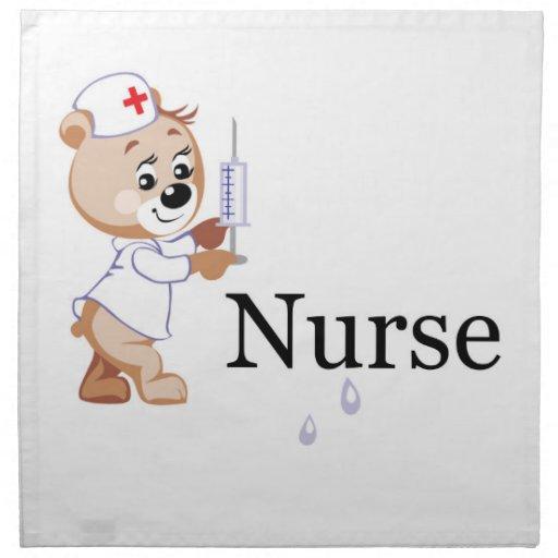 Oso de la enfermera servilletas de papel
