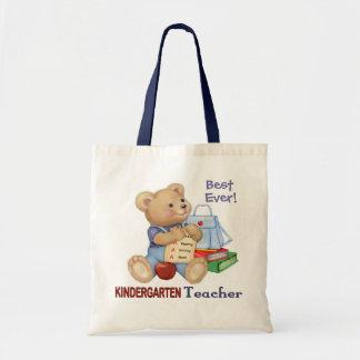 Oso de la escuela - maestro de jardín de infancia bolsa