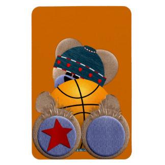 Oso de la fan de baloncesto imán flexible