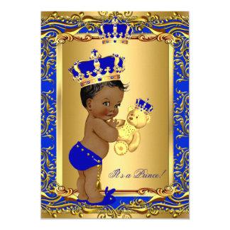 """Oso de la fiesta de bienvenida al bebé de príncipe invitación 5"""" x 7"""""""