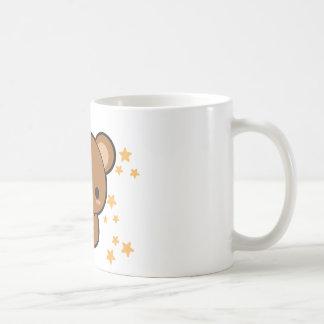 Oso de la galleta taza básica blanca